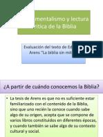Fundamentalismo y Lectura Critica de La Biblia