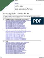 Cramer. Catenae Graecorum Patrum in Novum Testamentum-Index