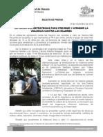 24/11/13 Refuerza Sso Estrategias Para Prevenir y Atender La Violencia Contra Las Mujeres