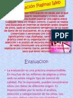 Evaluación Paginas Web
