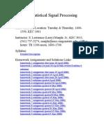 ECE 560 Statistical Signal Processing