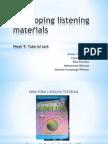 Week 9- Developing Listening Materials