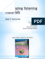 Week 9- Developing Listening Materials