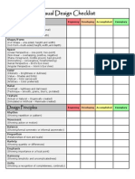 visual design checklist