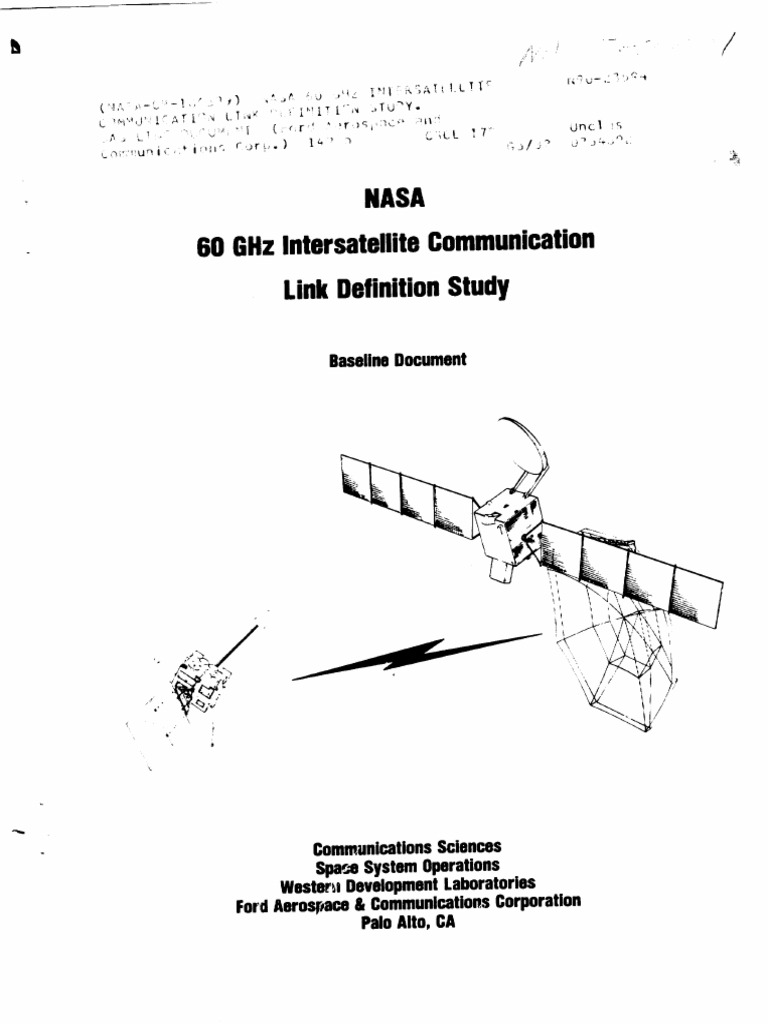 Nasa 60 Ghz Inter,Satellite Communication Link Definition