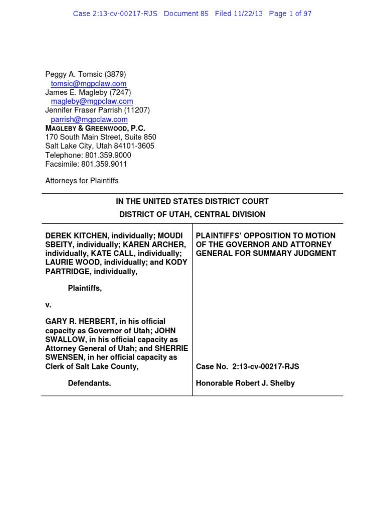 2 13 Cv 85 Defense Marriage Act