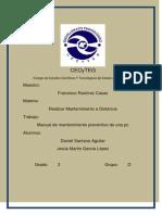 Manual de Mantenimiento Preventivo de Una Pc