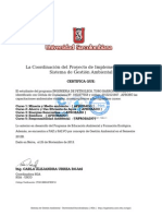 Certificado Toro Gy