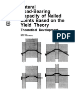 Lateral Load-Bearing Capacity of Nailed Joints Based on the Yield Theory