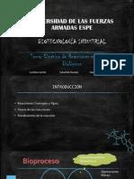 CINETICA DE REACCIONES EN SISTEMAS BIOLÓGICOS