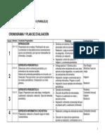 CRONOGRAMA 2013-2 Paralelo
