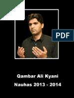 Qambar Ali Kyani 2013 - 2014