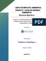 Resumen Ejecutivo EIA Definitivo Ampliación del Sistema de Generación Eléctrica