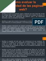 Confiabilidad de Las Pag Web