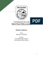 Métodos estadísticos (Regresion simple)
