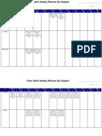 Timetable 201109