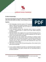 Postgraduate Scholarship
