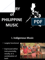 History of Philippine Music