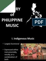 History of Philippine Music