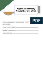 Agenda Summary 11-26-2013
