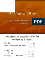 4.6 Cramers Rule