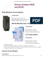 Difference Between MCB, MCCB, ELCB, And RCCB _ EEP