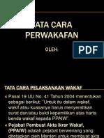 Tata Cara Wakaf