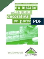 Cómo Instalar Plaqueta Decorativa en Pared