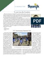 Syunik NGO Newsletter Issue 1