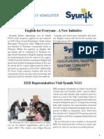 Syunik NGO Newsletter Issue 11
