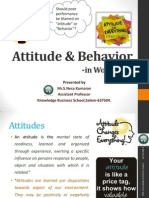 Attitude & Behaviour in Workplace