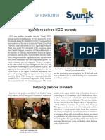 Syunik NGO Newsletter Issue 3