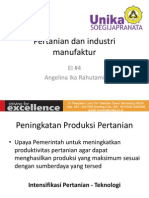 4 Pertanian Dan Industri Manufaktur