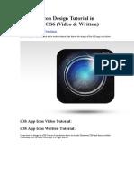 iOS App Icon Design Tutorial in Illustrator CS6