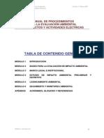 MANUAL DE PROCEDIMIENTOS PARA LA EVALUACIÓN AMBIENTAL DE PROYECTOS Modulo 1