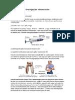 Forma De Aplicar Una Inyección Intramuscular