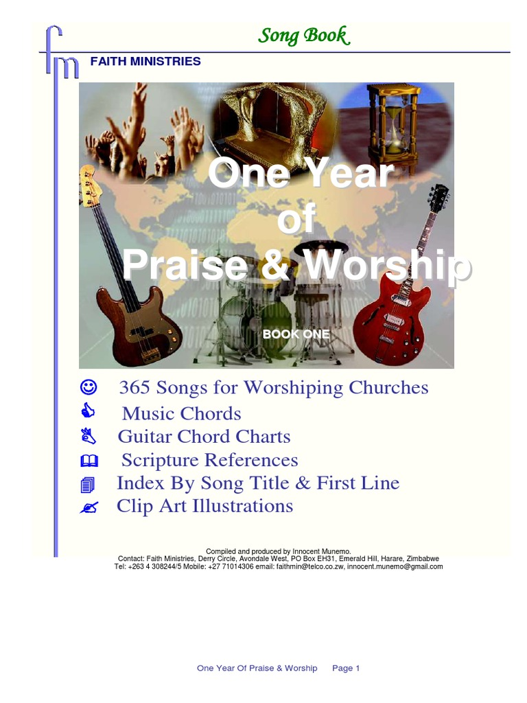 Faith Ministries Song Book 2 Contemporary Worship Music Glory