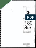 BMW Dokumentation BMW R80 G-S