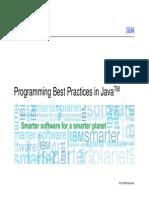 Programming Best Practices in Java