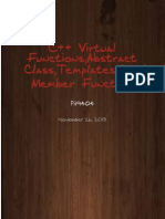C++ virtual functions and abstract class