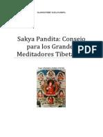Sakya Pandita Consejo a Los Grandes Meditadores Tibetanos