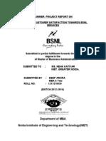 A Study on Customer Satisfaction Towards Bsnl Services