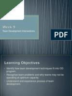 Week %239 - CH %2310 - Team Development Interventions