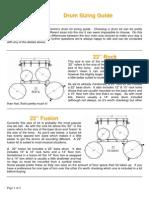 Drum Sizing Chart