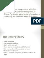 ernest hemingway and the iceberg principle hemingway iceberg theory