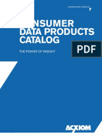 Acxiom - Consumer Data Products Catalog