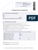 Mozambique Tourist Visa Application