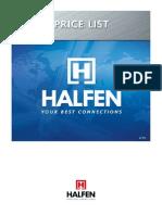 2013 Halfen Price List