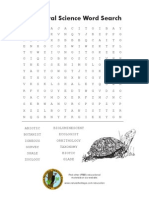 Natural Science Word Search