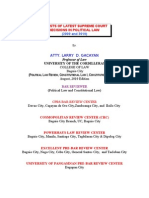 Digests of Latest Cases in Political Law, 2009-2010